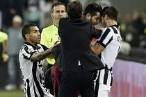 Potyčka ze zápasu Juventus Turín - AS Řím