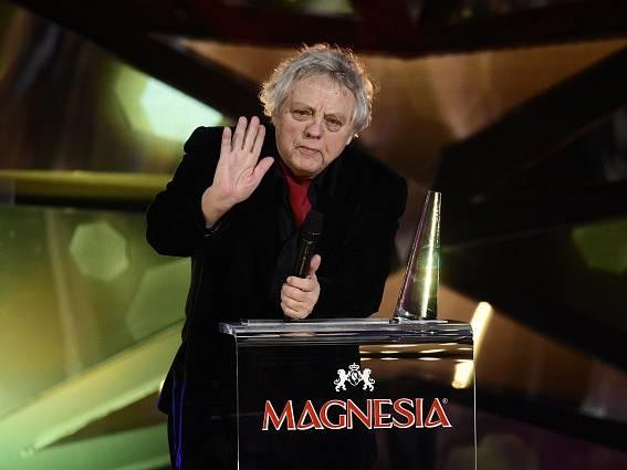 Kameraman Stanislav Milota s cenou Český lev za mimořádný přínos české kinematografii.