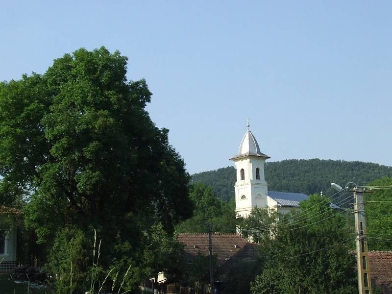 Ortodoxní kostel v rumunské vesnici Treznea