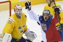 Česko - Švédsko: Martin Zaťovič slaví gól