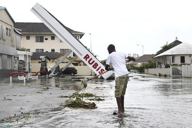 Hurikán Irma na Bahamách.