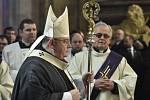 Pohřeb kardinála Miloslava Vlka v katedrále sv. Víta na Pražském hradě. Zádušní mši sloužil pražský arcibiskup Dominik Duka.