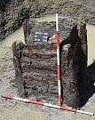 Nález studny v místě budoucí dálnice D35.