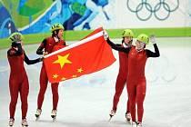 Rychlobruslařky Číny ovládly štafetu na 3000 m na krátké trati.
