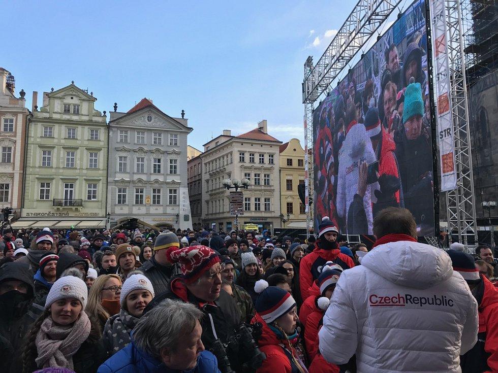 Staroměstské náměstí čeká na české olympioniky