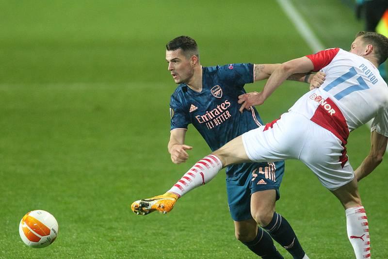 UEFA Evropská liga - čtvrtfinálový zápas FK Slavia - Arsenal