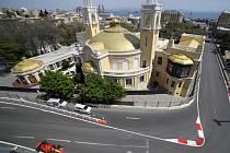Závodní okruh v Baku.
