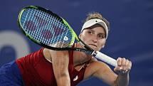 Česká tenistka Markéta Vondroušová ve finále olympijského turnaje v Tokiu