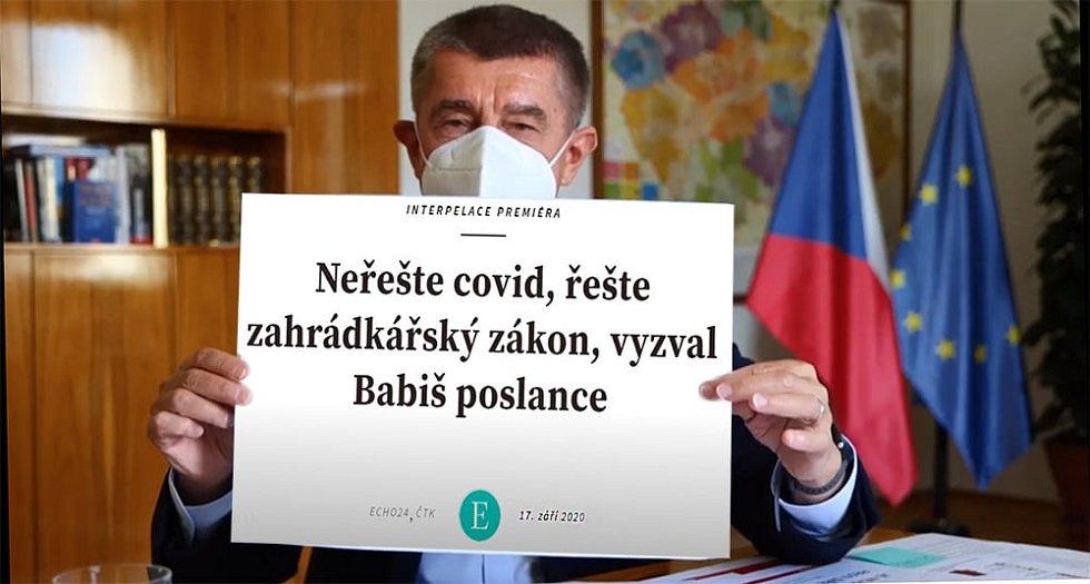 Svou porci sarkasmu sklidil i premiér Andrej Babiš