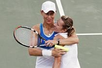 Deblový pár Stubbsová-Peschkeová (vpravo) na turnaji v Dauhá.