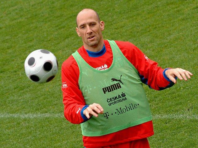 Jan Koller při tréninku.
