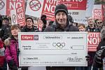 Odpůrci pořádání zimních olympijských her v Calgary