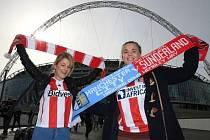Fanynky Sunderlandu před pohárovým finále proti Manchesteru City