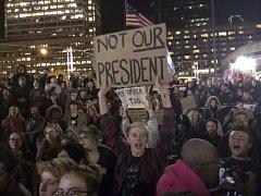 Protesty proti Trumpovi.