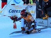 Triumf Ester Ledecké na prvním závodě Světového poháru v italské Carezze.