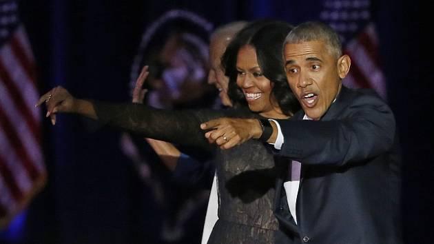 Michelle a Barack Obamovi