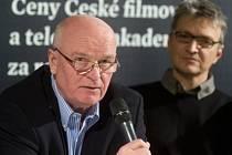 Členové prezidia České filmové a televizní akademie (ČFTA) Ivo Mathé (vlevo) a Jan Svěrák vystoupili 22. ledna v Praze na tiskové konferenci k vyhlášení nominací na 21. ročník výročních filmových cen ČFTA Český lev.
