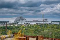 Nový kryt Černobylské jaderné elektrárny na snímku z roku 2018