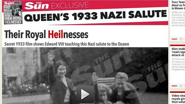 Videozáznam z roku 1933 zveřejnil britský bulvární list The Sun.