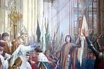 Francouzský král Karel VII. je díky Janě z Arku slavnostně korunován v Remeši
