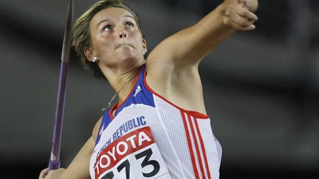Barbora Špotáková a její vítězný hod 67,07 metrů.