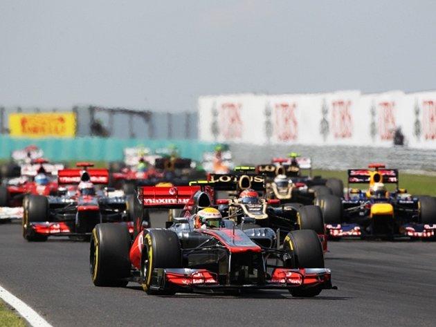Lewis Hamilton ve Velké ceně Maďarska.