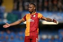Didier Drogba při zápase Chelsea - Galatasaray