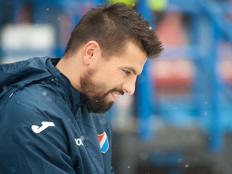 Posila Ostravy Milan Baroš před zápasem s Českými Budějovicemi.