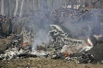 Sestřelené letadlo v indické části Kašmíru