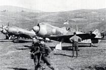 Sovětská stíhačka Lavočkin La-5, na níž létali i českoslovenští piloti