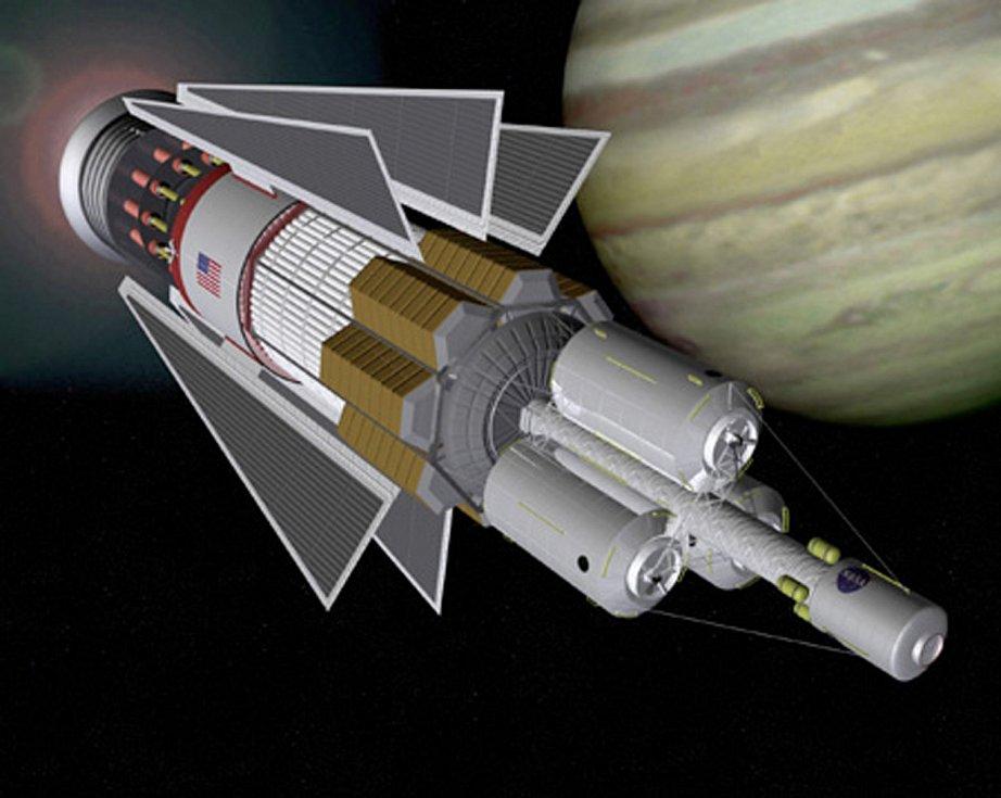Koncept vesmírné lodě s pulzním motorem, který by mohl umožnit mezihvězdné lety.