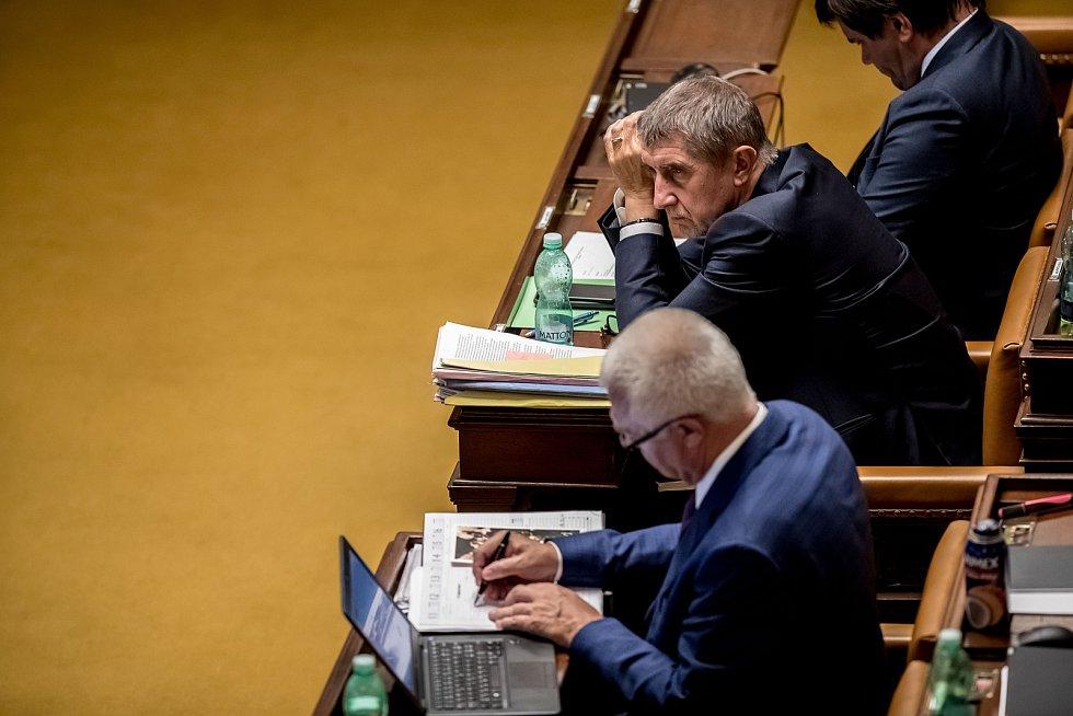 Poslanecká sněmovna 6. září v Praze rozhodovala o zbavení imunity kvůli kauze Čapí hnízdo u poslanců Andreje Babiše a Jaroslava Faltýnka.