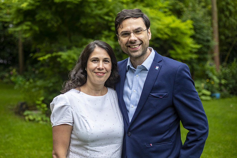 Šéf firmy Avast Ondřej Vlček a jeho žena Katarína