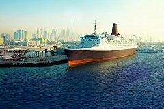 Zaoceánská loď Queen Elisabeth 2 přebudovaná na hotel