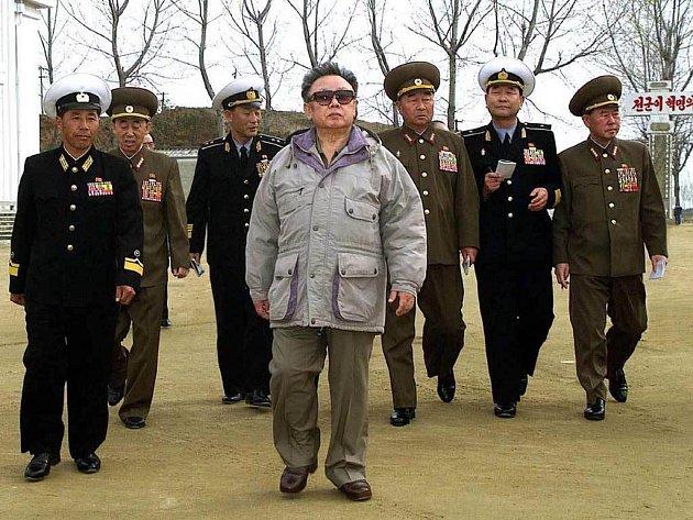 Vlády Severní Korey v čere s prezidentem Kim Čong-ilem