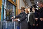 Kandidátka Julija Tymošenková už svůj hlas odevzdala