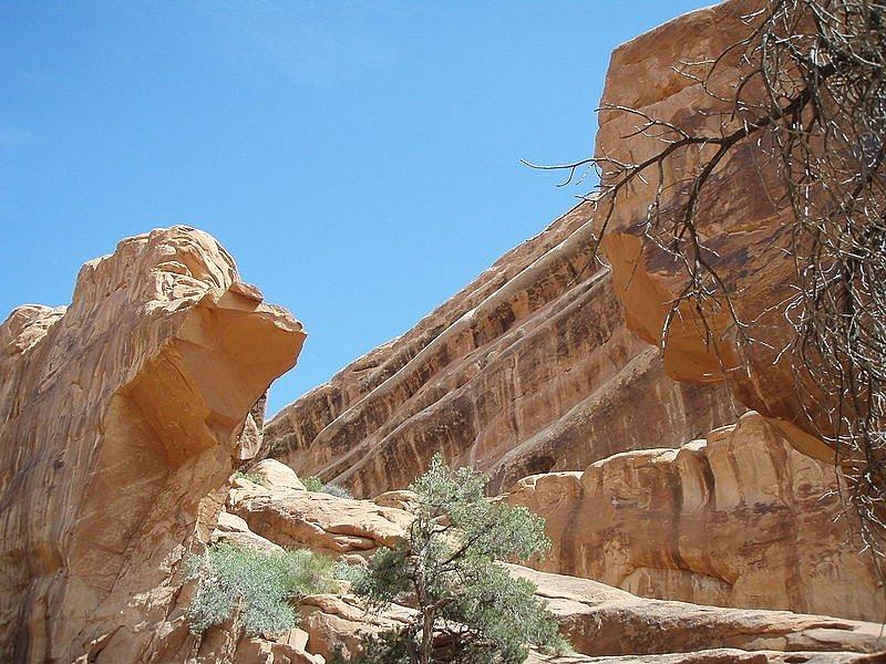Šedesát let po objevení, v roce 2008, se zřítil oblouk Wall v americkém národním parku Arches. Takhle vypadají jeho pozůstatky.