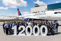 Předání jubilejního airbusu společnosti Delta Air Lines.