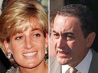 Princezna Diana a její přítel Dodi Al Fayed.