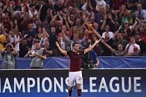 AS Řím - Barcelona: Alessandro Florenzi slaví gól