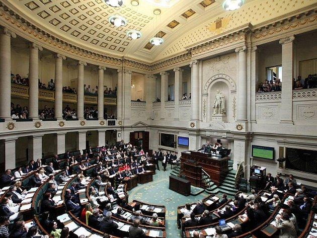 Belgický parlament při čtvrtečním jednání.