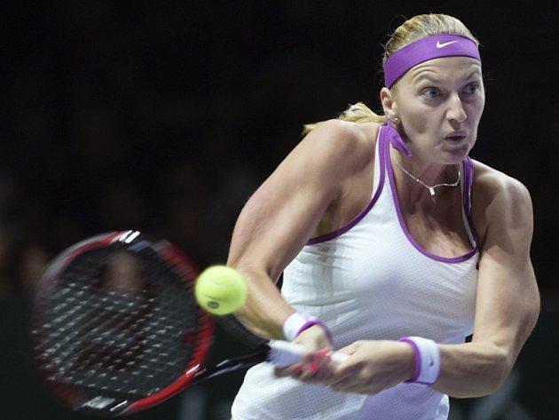 Petra Kvitová ve finále Turnaje mistryň.