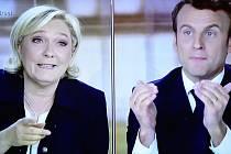 Marine Le Penová, Emmanuel Macron; volební TV debata