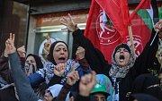 Palestinské protesty proti uznání Jeruzaléma izraelskou metropolí