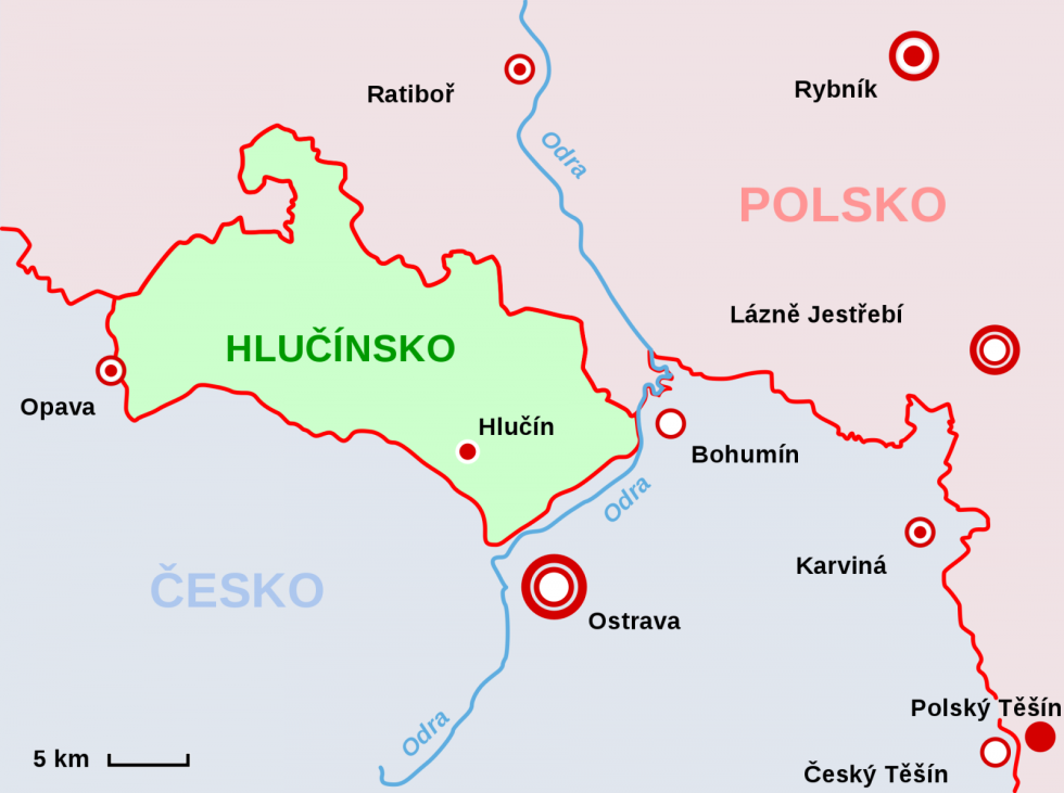 Mapa Hlučínska