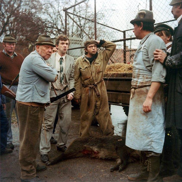 Rudolf Hrušínský ve filmu Slavnosti sněženek.