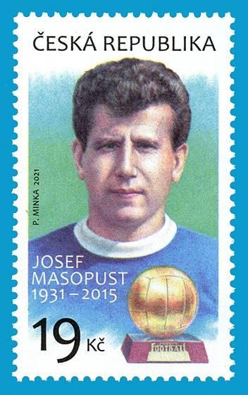 V únoru rovněž pošta vydala speciální známky, které připomínají Josefa Masopusta