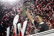 Tom Brady slaví posedmé Super Bowl.