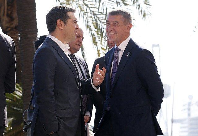 Mezinárodní konference v Palermu na Sicílii o Libyi. Andrej Babiš a řecký premiér Alexis Tsipras.