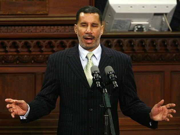 David Paterson na své inauguraci do úřadu guvernéra státu New York.
